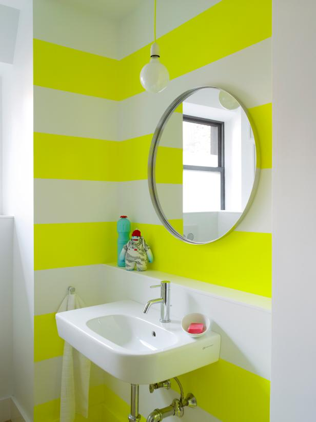 bathroom color ideas neon